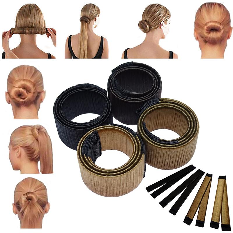 Hair Bun Maker DUNKELBRAUN Donut Dutt Maker ZopfFrisur Accessoires Haar Styling